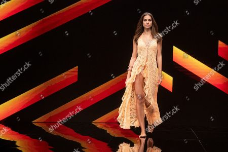 Stock Image of Joana Sanz on the catwalk