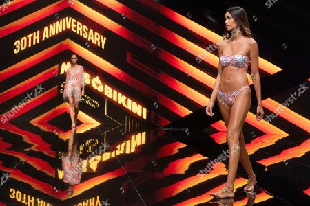 Editorial image of Miss Bikini show, Runway, Swimwear Fashion Week, Expomeloneras, Maspalomas, Gran Canaria Island, Canary Islands, Spain - 05 Oct 2019