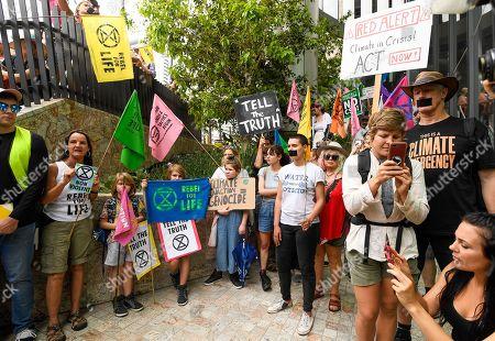 Editorial picture of Extinction Rebellion protest in Brisbane, Australia - 09 Oct 2019