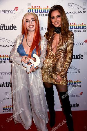 Ava Max winner of The Attitude Breakthrough award and Cheryl