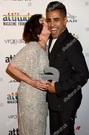 Stock Image of Shirley Ballas and Dr. Dr Ranj winner of The Attitude Television award