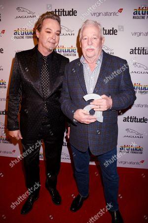 Julian Clary and Armistead Maupin winner of The Attitude Literary award