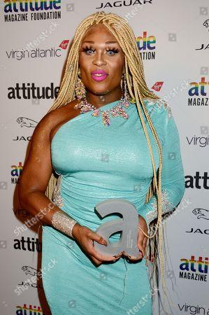 Peppermint winner of The Attitude Inspiration award
