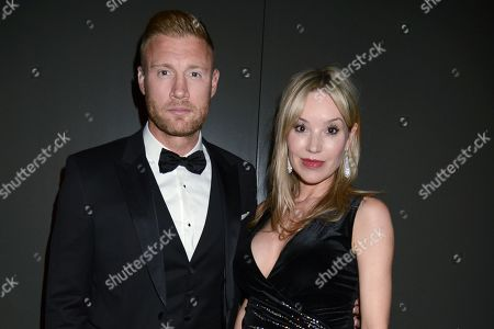 Stock Photo of Andrew 'Freddie' Flintoff and Rachael Wools Flintoff