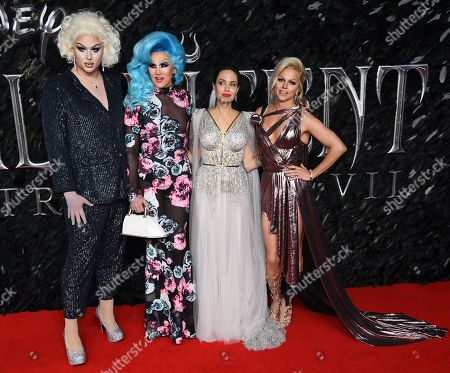 Charlie Hides, Ellis Atlantis, Angelina Jolie and Courtney Act