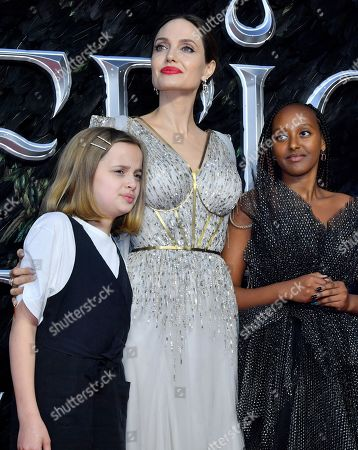 Vivienne Jolie-Pitt, Angelina Jolie and Zahara Jolie-Pitt