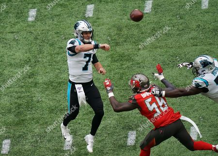 Carolina Panthers quarterback Kyle Allen  (7)