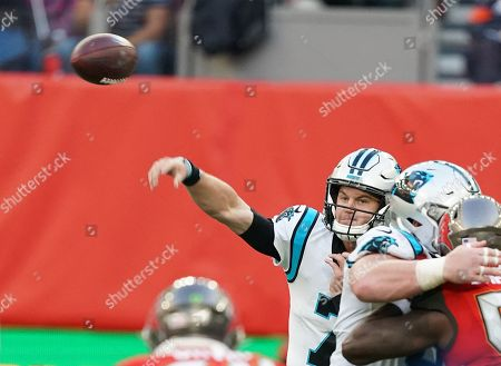 Carolina Panthers quarterback Kyle Allen (7).