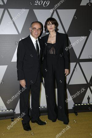 Giuseppe Tornatore and Monica Bellucci