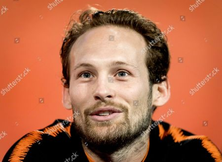 Netherlands' Daley Blind attends a press conference in Zeist, the Netherlands, 09 October 2019. The Netherlands will face Northern Ireland in their UEFA Euro 2020 group C qualifying soccer match on 10 October 2019.