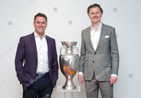 UEFA EURO 2020 Ambassadors Steve McManaman (right) and Michael Owen help to publicise the Euro 2020 at the Leaders in Sport conference at Twickenham Stadium