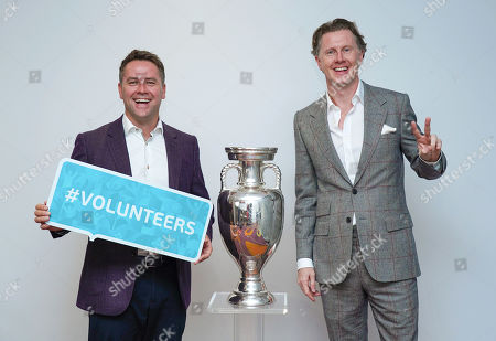Stock Picture of UEFA EURO 2020 Ambassadors Steve McManaman (right) and Michael Owen help to publicise the Euro 2020 at the Leaders in Sport conference at Twickenham Stadium