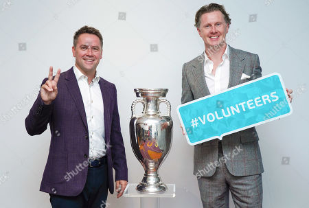 Stock Photo of UEFA EURO 2020 Ambassadors Steve McManaman (right) and Michael Owen help to publicise the Euro 2020 at the Leaders in Sport conference at Twickenham Stadium