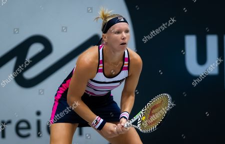 Kiki Bertens of the Netherlands in action during her first-round match