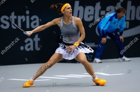 Andrea Petkovic of Germany in action during her second-round match