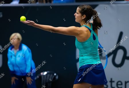 Julia Goerges of Germany in action during her second-round match