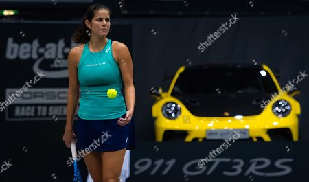Stock Photo of Julia Goerges of Germany in action during her second-round match