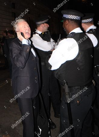 Louis Walsh talks to police