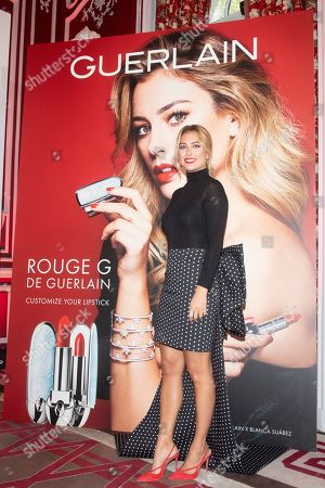 Editorial photo of Blanca Suarez presents Rouge G de Guerlain lipstick, Santo Mauro Hotel, Madrid, Spain - 09 Oct 2019