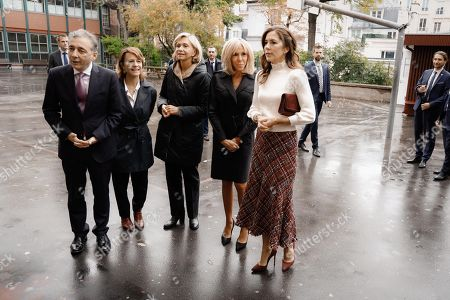Valerie Pecresse, president of the Ile de France region, Brigitte Macron and Crown Princess Mary