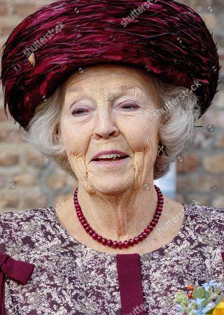 Stock Photo of Princess Beatrix during the unveiling of a statue of Willem van Oranje in Dordrecht