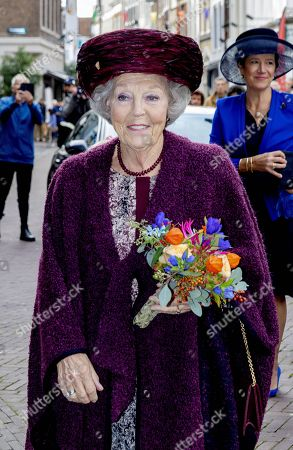 Stock Picture of Princess Beatrix during the unveiling of a statue of Willem van Oranje in Dordrecht