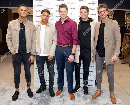 Stock Picture of Danny Williams, Jordan Hames, Curtis Pritchard, Callum Macleod and Chris Taylor