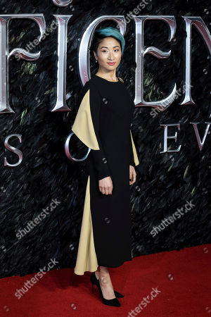Kae Alexander poses for photographers on arrival at the Premiere of the film 'Maleficent: Mistress of Evil' in central London on