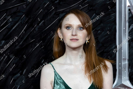 Jenn Murray poses for photographers on arrival at the Premiere of the film 'Maleficent Mistress of Evil' in central London on