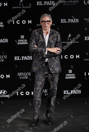 Venezuelan writer and gala's conductor Boris Izaguirre poses for the media during the ICON awards gala held at Spanish Royal Tapestry Factory in Madrid, Spain, 09 October 2019. The event was organized by Spanish magazine ICON.