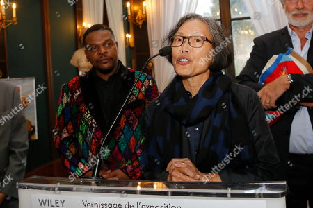 Kehinde Wiley with Eugenie Tsai, Curator of Brooklyn Museum