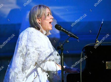 Stock Image of Frida Hyvonen, Swedish singer-songwriter.