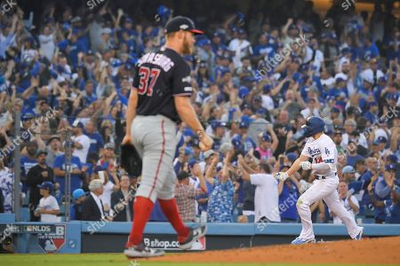 Editorial image of NLDS Nationals Dodgers Baseball, Los Angeles, USA - 09 Oct 2019