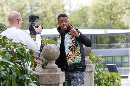 Presnel Kimpembe arrives at the French national football team training base to prepare the upcoming qualification football matches against Iceland and Turkey