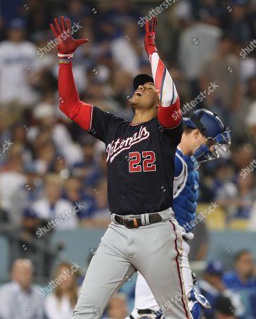 Editorial photo of Washington Nationals at Los Angeles Dodgers, USA - 09 Oct 2019