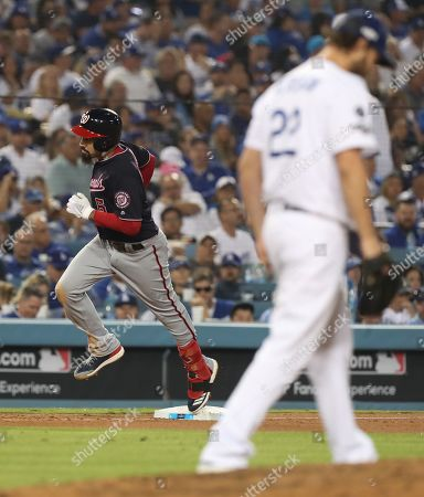 Editorial picture of Washington Nationals at Los Angeles Dodgers, USA - 09 Oct 2019