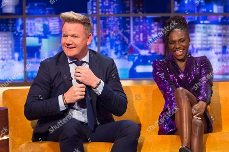 Stock Image of Gordon Ramsay, Dina Asher-Smith