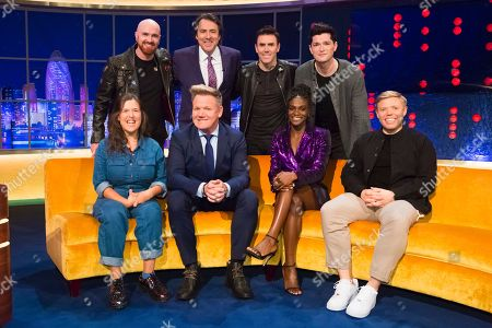 Stock Photo of Mark Sheehan, Jonathan Ross, Glen Power, Danny O'Donoghue, Rosie Jones, Gordon Ramsay, Dina Asher-Smith, Rob Beckett