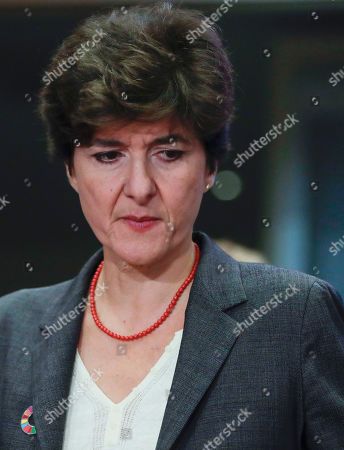 Sylvie Goulard, European Commissioner-designate in charge of Internal Market, attends her second hearing before the European Parliament in Brussels, Belgium, 10 October 2019. Goulard was rejected by a vote of 82 MEPs against 29. MEPs from various committees are hearing the proposed members of Commission President-elect von der Leyen's. Commissioners have to be approved by the parliament following parliamentary vetting process.