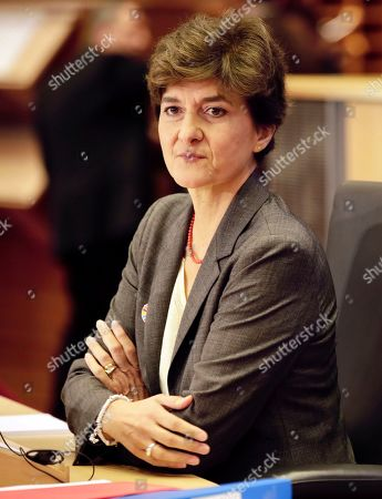 European Commissioner designate for Internal Market Sylvie Goulard answers questions during her hearing at the European Parliament in Brussels