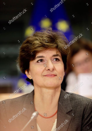 European Commissioner designate for Internal Market Sylvie Goulard waits for the start of her hearing at the European Parliament in Brussels