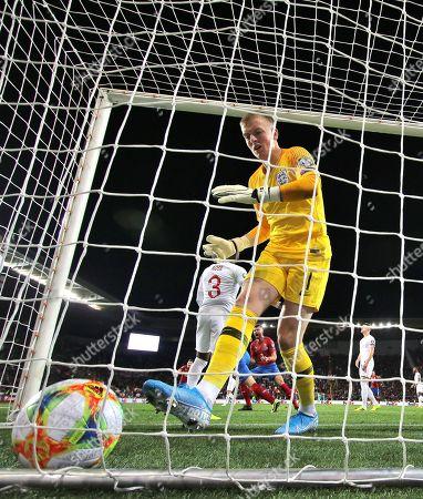 Jordan Pickford of England after conceding 1st goal