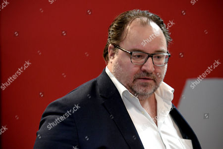 Stock Image of German third division soccer team KFC Uerdingen club's president Russian investor Mikhail Ponomarev arrives for a press conference in Duesseldorf, Germany, 10 October. Since the beginning of October 2019, former national player Effenberg has been working for KFC Uerdingen 05 as a sports manager to lead the club out of the crisis.