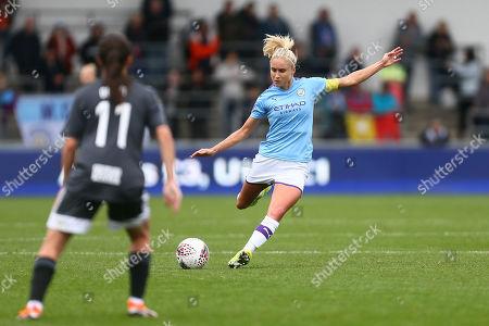 Editorial image of Manchester City Women v Birmingham City Women,  Barclays FA Women's Super League, Football, The Academy Stadium, UK - 12 Oct 2019