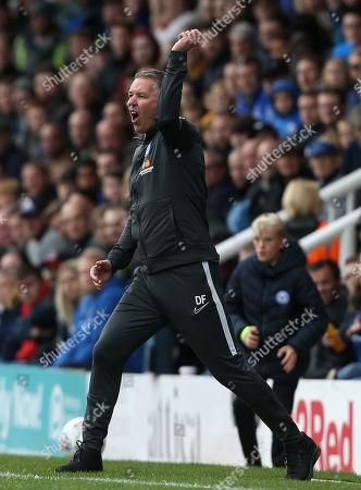 Peterborough manager Darren Ferguson  shows anger at a decision