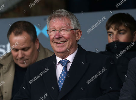 Sir Alex Ferguson is good spirits before kick off