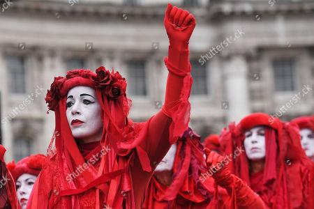 Red Brigade protesters in Trafalgar Square