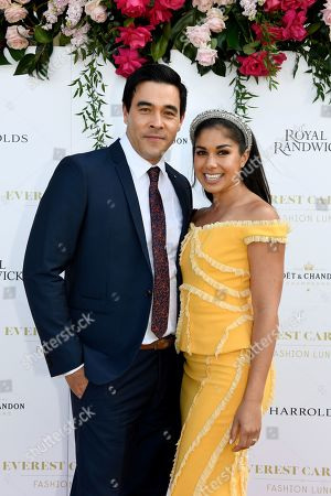Channel Seven's Home And Away stars and Everest Carnival 2019 Ambassadors James Stewart and Sarah Roberts pose for a photograph during the inaugural Everest Carnival Fashion Lunch at Royal Randwick Racecourse in Sydney, Australia, 10 October 2019.