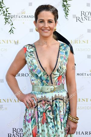 Jockey Michelle Payne poses for a photograph during the inaugural Everest Carnival Fashion Lunch at Royal Randwick Racecourse in Sydney, Australia, 10 October 2019.