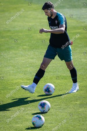 Portugal's Ruben Dias iin action during a training session at Cidade do Futebol in Oeiras, Portugal, 10 October 2019. Portugal faces Luxemburg and Ukraine in UEFA Euro 2020 qualifier matches on 11 and 14 October.